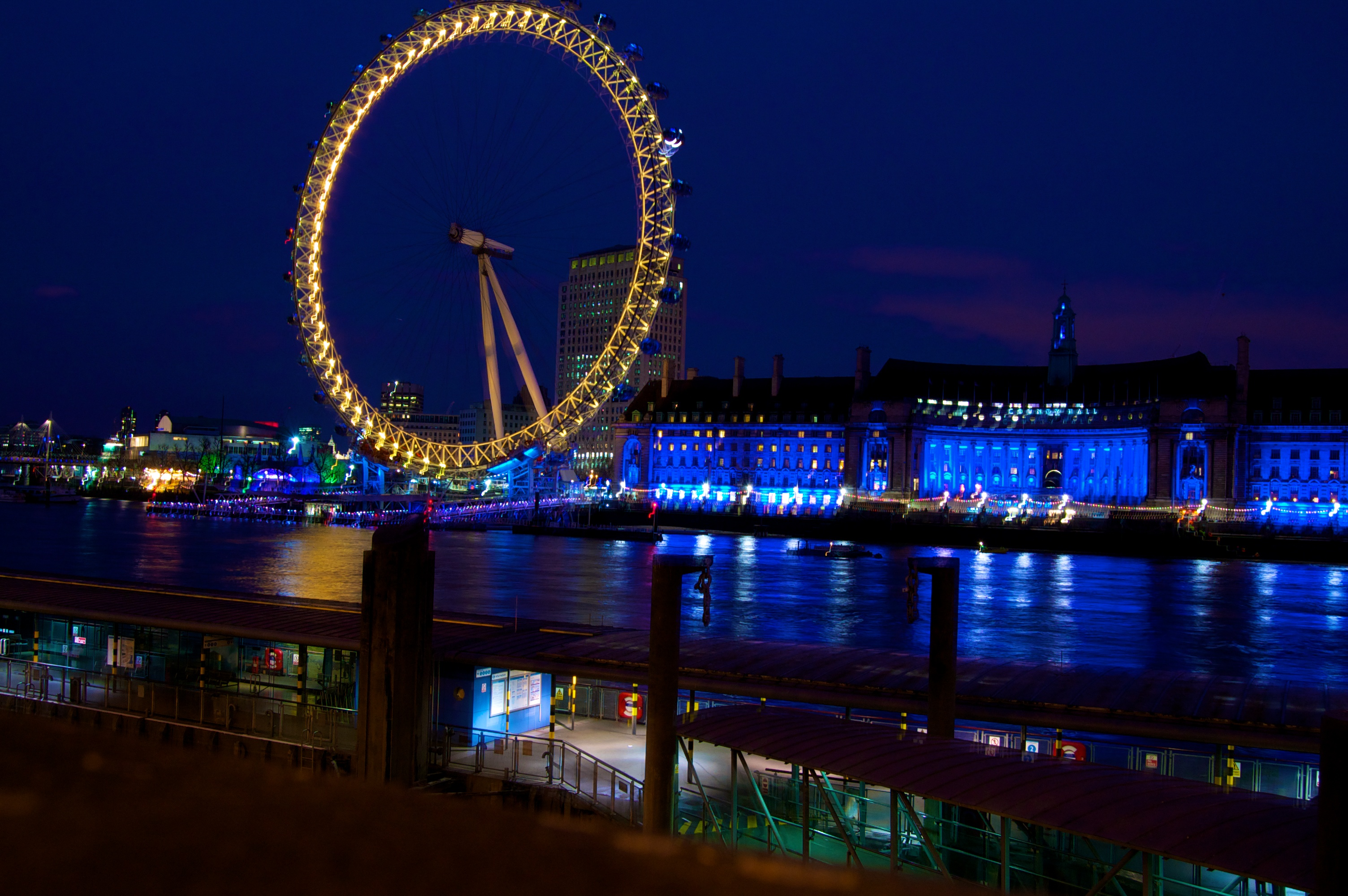 The London Eye, at night.